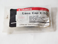 Canon E-52mm lens cap original in bag