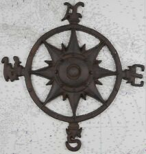 Iron Compass Rose Wall Decor Nautical Ship Boat Plaque Fishing Fishermen Boats