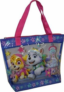 Nickelodeon Paw Patrol Girls Large PVC Carry-All Tote