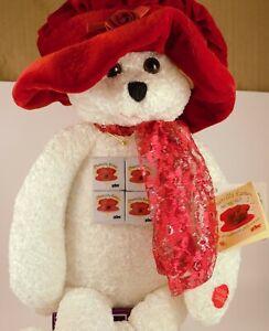 "PBC CHANTILLY LANE 22"" ASHLEY CHENILLE TEDDY BEAR DOLL-SINGS THE BEATLES I WILL"