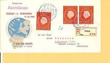 NL / Mi.-Nr. 654 (3) als MeF a. Drucks.-E.-Auslands-Brief 15.12.54