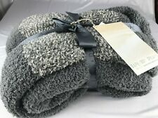 "NEW NWT Nordstrom BAREFOOT DREAMS BLANKET THROW 45 X 60"" HEATHERED STRIPE GRAY"