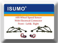 2 X ABS Wheel Speed Sensor W/Connector Front L/R Fits:RAM 1500 2500 3500  4WD