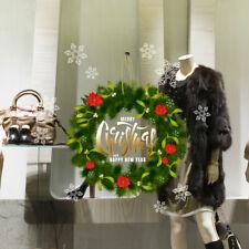 CRNT0137 Fenster Weihnachten Wiederverwendbar Deko Vitrine Ladenbau 40x50 CM
