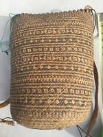 Antique or Vintage Pacific/Oceanic (Borneo)  basket - finely made