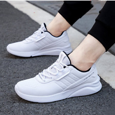 White Men's Shoes Sneakers Breathable Casual Shoes Running Shoes Men US 9.5