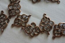 10 Celtic Knot Connectors 27x17mm Antique Copper #3975 Combine Post-See Listing