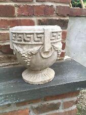 Vintage Grecian Style Concrete Planter