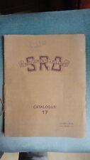 CATALOGUE SRO 17 ROULEMENT A BILLE 1934