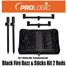 Prologic Black Fire Buzz&sticks Kit 2 Rods Rutenauflagen Buzzer Bars 49879 Acc26