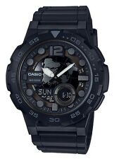 Casio Watch * AEQ100W-1BV Telememo 3D Dial All Black Ivanandsophia COD PayPal