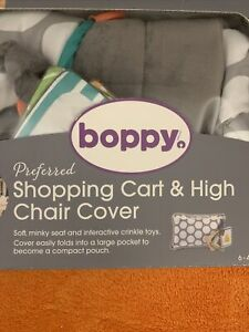 Boppy Preferred Shopping Cart and High Chair Cover Gray Jumbo Dots