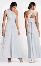 M&S Collection Multiway Strap Maxi Dress UK Size 8 SILVER GREY