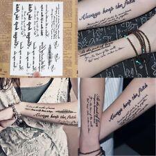 Temporary Tattoos Body Sticker Tattoo Paper Fake Tatoo Waterproof Body Stickers