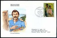 FRANCE POLYNESIA TO USA, PAINTING, FDC, VF