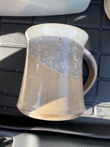 Clay in Motion Handwarmer Mug Right Handed Ceramic Coffee Mug Cobalt Canyon