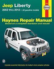 Jeep Liberty Haynes Repair Manual covering all models 2002 thru 2012 #50035