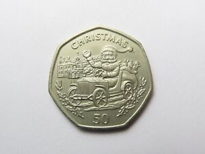 Gibraltar Christmas 50p 1993 (cupro-nickel currency issue)