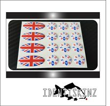 Delkim TXi Plus Ev STD Delkim Stile Ovale & Dial Adesivo Decalcomania Set Kit Union Jack
