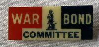 Vintage USA  War Bond Committee Pin Whitehead & Hoag