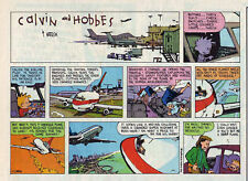 Calvin and Hobbes by Bill Watterson - color Sunday comic page - Sept. 25, 1994
