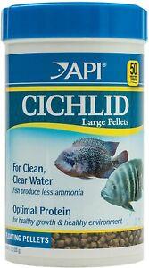 API CICHLID LARGE PELLETS Large Floating Pellets Fish Food, 7.1 Oz