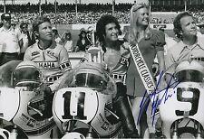 Giacomo Agostini main signé YAMAHA 12x8 Photo MotoGP 5.