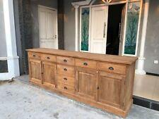XXL Real Wood Solid Teakwood Sideboard Dresser Bierens 240cm x 95cm
