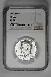 1968 S/S 50c VP-002 Proof Kennedy Half Dollar NGC PF 67