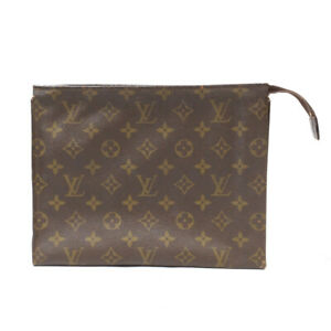 LOUIS VUITTON Posh To Cracking To 25 Pouch Brown M47542