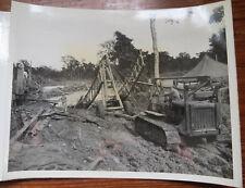 WARAZUP BURMA WWII PHOTO - 330th ENGINEERS REBUILDING BAILEY BRIDGE 1945
