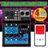 4 Channel bluetooth Live Studio Audio Mixer Mixing Console USB Phantom 48V