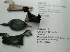 Un researched Roman bronze Cockerel brooch cock hen Metal detecting detector
