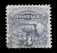 U.S. 114 USED 3 CENT 1869 LOCOMOTIVE ISSUE F GRILL