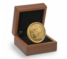 2010 Queen Elizabeth II Proof Gold Quarter Sovereign + Walnut Case COA