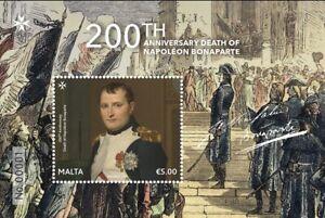 Malta 2021 mini sheet 200th Anniversary Death of Napoleon Bonaparte MNH