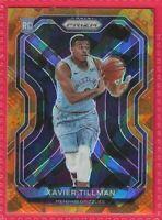 2020-21 Prizm Orange Cracked Ice Xavier Tillman Rookie RC #299 Memphis Grizzlies