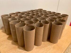 Lot of 50 Empty Toilet Paper Rolls cardboard Tubes Arts Craft