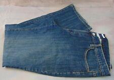 Liz & Co Women's Dark Dist. Wash Stretch Mid Rise Straight Leg Jeans Size 16R