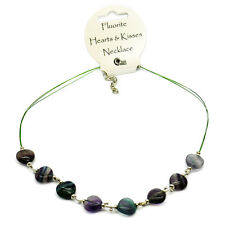 FLUORITE Hearts & Kisses COLLANA