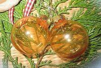 ★christbaumkugel weihnachts ohrringe orange transparent s925 haken 3cm
