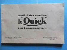 """Morin et Antoine Société des Meubles Le """"Quick"""" pour bureaux modernes catalogue"""