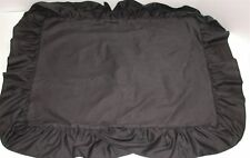 "(1) Ruffled Pillow Sham ~ Black ~ Standard 20 x 26 w/ 5"" Ruffle **NEW**"