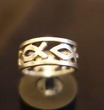 Sólido 925 plata esterlina Toe//Midi Anillo Cadena Enlace Diseño oxidado Bolsa De Regalo