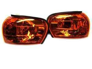 Corner Signal Lights for Subaru Impreza WRX STI GC8 93-00 Amber Crystal Clear