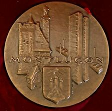 "MONNAIE de PARIS / La FRANCE au Cocurds MONTLUCON BRONZE MEDAL BOX 2 5/8"" (20-1)"