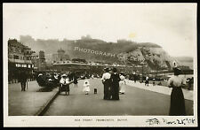 Antique Real Photo Postcard Sea Front Promenade Dover England Kent UK 1908
