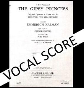 1921 / 1957 Vocal Score Gipsy Princess new version Emmerich Kalman
