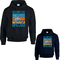 Marty Whatever Happens Vintage Car Hoodie, Don't Ever Go to 2020 Funny Retro Top
