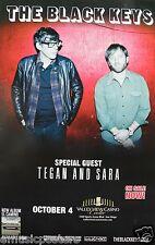 BLACK KEYS / TEGAN & SARA 2012 SAN DIEGO CONCERT TOUR POSTER - Garage Rock Music